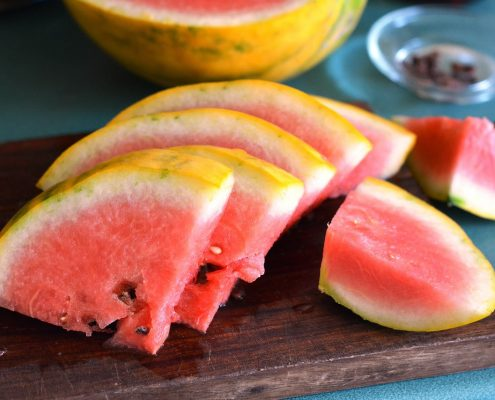 watermeloenstukjes